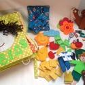 Kisfiúknak, állatos, ujjbábos, ciőfűzős, öltöztetős babbával,14 oldalas könyv, foglalakoztató, készségfejlesztő, , Játék, Báb, Készségfejlesztő játék, Plüssállat, rongyjáték, Varrás, Textilkönyv, babakönyv, ineteraktív foglalakoztató és készségfejlesztő játék, csendeskönyv, filc já..., Meska