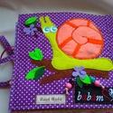 14 oldalas foglalkoztató könyv fiúknak, lányoknak, csendeskönyv, Játék, Logikai játék, Készségfejlesztő játék, Varrás, Patchwork, foltvarrás, Textilkönyv, babakönyv, ineteraktív foglalakoztató és készségfejlesztő játék, csendeskönyv, filc já..., Meska