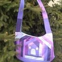 A lila ötven árnyalata egy falat szürkével szatyor, textil táska, tatyó