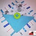 Címke rongyi babáknak, Baba-mama-gyerek, Játék, Baba-mama kellék, Készségfejlesztő játék, Hímzés, Varrás, Minden baba szereti a színes, figyelemfelkeltő játékokat. A különböző színek, anyagok és címkék lek..., Meska