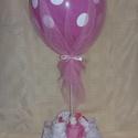 Pöttyös csomag bodyval, Baba-mama-gyerek, Dekoráció, Mindenmás, Baba-mama kellék, Mindenmás, Ehhez az elragadó csomaghoz 5 db 3-6 hónapos kislányra való rózsaszín és fehér hosszúujjú bodykat é..., Meska