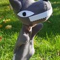 Farkas, Játék, Báb, Kb: 32cm magas,nagyon jól mosható,gyerek kezébe is adható. A termék kimondottan bábozás célj..., Meska