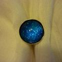 LEFOGLALVA Gabinak-Csillagos éj - kézzel festett gyűrű, Csillagos éj gyűrű  A gyűrűt kézzel festette...