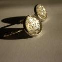 Hóvihar- kézzel festett fülbevaló, Hóvihar fülbevaló  Ezüst színű, bronz fülbe...