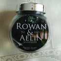 Rowaelin, Otthon, lakberendezés, Gyertya, mécses, gyertyatartó, Az Üvegtrón sorozat leghíresebb párosa a csodás Aelin és Rowanről készült fangyertya.   Ill..., Meska
