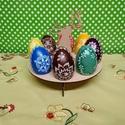 Hímes tojás tartó, Dekoráció, Otthon, lakberendezés, Dísz, Húsvéti díszek, Famegmunkálás, A termék lézervàgott technológiával készült. , Meska
