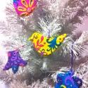 mese karácsonyfadísz lila, Dekoráció, Dísz, Karácsonyi, adventi apróságok, Karácsonyfadísz, ..az egész egy borús hétvégén kezdődött, amikor színekkel és kedves formákkal próbáltuk ..., Meska