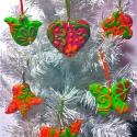 mese karácsonyfadísz narancs zöld, Dekoráció, Dísz, Karácsonyi, adventi apróságok, Karácsonyfadísz, ..az egész egy borús hétvégén kezdődött, amikor színekkel és kedves formákkal próbáltuk ..., Meska