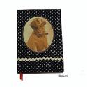Boldog bulldog- napló romantikusoknak, kutyabarátoknak, Naptár, képeslap, album, Jegyzetfüzet, napló, Vidám, bohém napló nem csak kutyabarátoknak. Gépi és kézi varrással készült, aprólékos munkával. Sza..., Meska