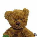 Nosztalgia Teddy mackó, Játék, Dekoráció, Játékfigura, Baba-és bábkészítés, Varrás, Gépi és kézi varrással, aprólékos munkával készült nosztalgia Teddy mackó. Orrát, száját hímeztem, ..., Meska