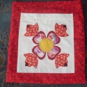 Piros mintás vászontáska, Táska, Baba-mama-gyerek, Piros mintás vászontáska Piros mintás vászonból készítettem ezt a környezetbarát táskát...., Meska