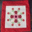 Piros mintás vászontáska 2, Táska, Baba-mama-gyerek, Piros mintás vászontáska Piros mintás vászonból készítettem ezt a környezetbarát táskát...., Meska