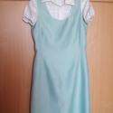 Türkiz/kék tubus ruha, Leírhatalan színű, angol szövetből készült ...