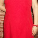 Piros ruha skótkockás tetejével, Ruha, divat, cipő, Női ruha, Ruha, Ujjatlan piros ruha, melynek tetejét skótkockás (vagy arra hasonlító) szövettel díszítettem...., Meska