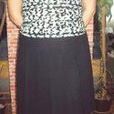 Fekete rakott szoknya letűzött rakásokkal, Ruha, divat, cipő, Női ruha, Szoknya, Varrás, Igazi angol, college stílusú rakott szoknya. Úgy néz ki, mint az angol magániskolák egyenruhájának ..., Meska