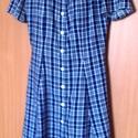 Kék-fehér kockás, nyári ruha, Kék és fehér kockás flokonból anyagból kész...