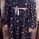 Hosszú ujjú muszlin ruha, Ruha, divat, cipő, Kismamaruha, Női ruha, Ruha, Varrás, Fekete alapon pink virágos muszlinból készült ez a többféleképpen viselhető ruha.   Bő szabású, az ..., Meska