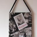 """""""Marilyn Monroe"""" táska, Táska, Szatyor, Válltáska, oldaltáska, Marilyn Monroe fényképekkel díszített táska...  Iskolába és vásárláshoz is kiváló.  Nyom..., Meska"""