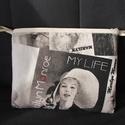 """""""Marilyn Monroe"""" Neszeszer, Mindenmás, Táska, Neszesszer, Varrás, Marilyn Monroe fotóival díszített neszesszer. Lapos, ezért sokféle táskában elfér.  23 cm széles 18..., Meska"""