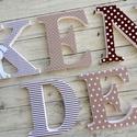 NÉV FELIRAT, habbetű, polisztirol betű, 5 betűs, Baba-mama-gyerek, Baba-mama kellék, Gyerekszoba, Baba falikép, Festett tárgyak, Mindenmás, Egyedileg díszített polisztirol habbetűk, melyből tetszőleges név feliratot készítünk gyerekszobába..., Meska