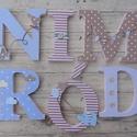 BETŰ, babanév felirat, polisztirol betű, 6 betűs, Baba-mama-gyerek, Baba-mama kellék, Gyerekszoba, Baba falikép, Egyedileg díszített polisztirol habbetűk, melyből tetszőleges név feliratot készítünk gyerekszobába,..., Meska