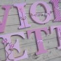 BETŰ, babanév felirat, polisztirol betű, 7 betűs, Baba-mama-gyerek, Baba-mama kellék, Gyerekszoba, Baba falikép, Egyedileg díszített polisztirol habbetűk, melyből tetszőleges név feliratot készítünk gyerekszobába,..., Meska