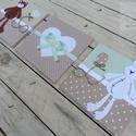 FALIKÉPEK babaszobába, bézs-menta, Gyerek & játék, Baba-mama kellék, Gyerekszoba, Baba falikép, Kedves, vidám és egyedi faliképek babaszobába, a Bear&Bunny sorozat maci és nyuszi figurájával díszí..., Meska