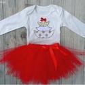 Ünnepi babaruha, tütüs szett karácsonyra, piros-arany, Táska, Divat & Szépség, Gyerek & játék, Ruha, divat, Gyerekruha, Baba (0-1év), Tedd felejthetetlenné gyermeked karácsonyát egy egyedi öltözettel!  A kiváló minőségű 100 % pamut bo..., Meska
