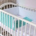 Babaágynemű GARNITÚRA, rácsvédő+takaró+párna, bármilyen színben, Gyerek & játék, Gyerekszoba, Falvédő, takaró, Baba-mama kellék, Egyszerű, letisztult vonalú babaágynemű garnitúra tetszőleges színvilágban.   A garnitúra tartalma: ..., Meska