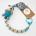 Cumilánc névvel, 3D állatfigurával - fából , Baba-mama-gyerek, Baba-mama kellék, Cumilánc 3D motívummal Modell: Zalu a kismedve 3D Kérlek vásárlás után egyeztessük üzenetben vagy ma..., Meska