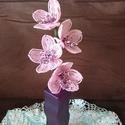 Csónakorchidea gyöngyből , A csónakorchideát drót és 2 mm-es kásagyöngy...