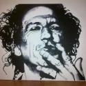 Akrilfestmény Kieth Richards-ról, Képzőművészet, Festmény, Akril, Festészet, 40x50 cm-es akrilfestmény korunk egyik legnagyobb rocklegendájáról. A kép kasírozott festővászonra ..., Meska