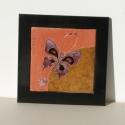 tűzzománc zománc kép pillangók, Dekoráció, Otthon, lakberendezés, Kép, Falikép, Tűzzománc, Vidám színes pillangós kép, Meska