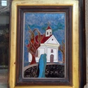 tűzzománc kép , Képzőművészet, Otthon, lakberendezés, Falikép, Mérete kerettel együtt : 27 cm x 35 cm  Tűzzománc kép , Meska