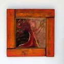 tűzzománc kép , Dekoráció, Képzőművészet, Kép, vörös fák  Különleges hangulatú festőzománc technikával készült kép Mérete kerettel egy..., Meska