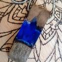 Tengerkék fa-műgyanta nyaklánc, Ékszer, Képzőművészet, Nyaklánc, Medál, Saját készítésű medál, fa és műgyanta házasságából. Törekszem a természet szépségének visszaadására,..., Meska