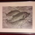 Delfinek, Képzőművészet, Delfinek, tanulmánykép Grafit rajz 39x30 cm keretezve 43x53 cm, Meska