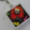 Kalocsai virág mintás kulcstartó , Mindenmás, Kulcstartó,  Saját készítésű,kulcstartó kalocsai virág motívummal.  Négyzet alakú, nagyon szép,saját..., Meska