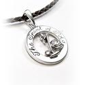 Ezüst lovaspóló medál, Ékszer, Medál, 925-ös fémjeles ezüst medál (csak medál) átmérője: 23 mm  Postázás: rendeléstől számítva kb 2 hét ..., Meska