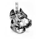 Amstaff medál , Ékszer, Medál, 925-ös fémjeles ezüst amstaff medál rendelhető. medál szélessége: 23 mm       magassága: 22 mm    ..., Meska