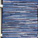 Kék-tarka szőnyeg, Otthon, lakberendezés, Lakástextil, Szőnyeg, Szövés, Ez egy többféle kék színű anyagból készült szőnyeg, itt-ott egy hússzínű csíkkal. Takács szövőszéke..., Meska