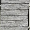 Fehér-barna melírozott rongyszőnyeg, Otthon, lakberendezés, Lakástextil, Szőnyeg, Szövés, Kézi szövéssel készült ez a fehér-barna  melírozott rongyszőnyeg, sötétbarna csíkokkal. Faliszőnyeg..., Meska
