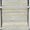 Sárga cirmos szőnyeg, Otthon, lakberendezés, Lakástextil, Szőnyeg, Szövés, Fehér-sárga cirmos rongyszőnyeg, keskeny sárga csíkokkal. Kézi szövéssel készült, régi takács szövő..., Meska