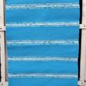 Kék szőnyeg, Otthon, lakberendezés, Lakástextil, Szőnyeg, Szövés, Kézi szövéssel készült ez a szőnyeg, a nagyapám 150 éves szövőszékén. Középkék szín között, világos..., Meska
