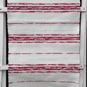 Faliszőnyeg piros mintás csíkokkal., Otthon, lakberendezés, Lakástextil, Szőnyeg, Szövés, Kézi szövéssel készült ez a faliszőnyeg. A fehér színben szépek a piros mintás csíkok, a középsőt f..., Meska