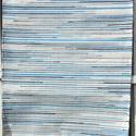 Kék-kék-fehér, Dekoráció, Otthon, lakberendezés, Lakástextil, Szőnyeg, Szövés, Ezt a fehér rongyszőnyeget világoskék és sötétkék színnel díszítettem. Kellemes kis szőnyeg, jó rán..., Meska