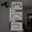 Babanapló, Baba-mama-gyerek, Gyerekszoba, Mobildísz, függődísz, Papírművészet, Ez a kis cukiság 3 db 18×24-es festőkartonra készült és a pici születési paramétereit tartalmazza. ..., Meska