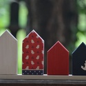 Tengeri madárka házikó, Dekoráció, Otthon, lakberendezés, A házikó szobor fenyőfából készült, amit festéssel-lakkozással és szalvéta technikával d..., Meska