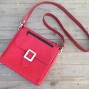 Piros alma kisválltáska 1, Táska, Válltáska, oldaltáska, Szeretem, ha a táska pont akkora amilyenre aznap szükségem van. Néha nagyobbat viszek magammal, ..., Meska