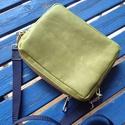ETHEL kistáska kiwi zöld, Táska, Válltáska, oldaltáska, Friss kiwi zöld színben készült kistáska a praktikumot szeretőinek készült. Kulcs, telefon, ..., Meska